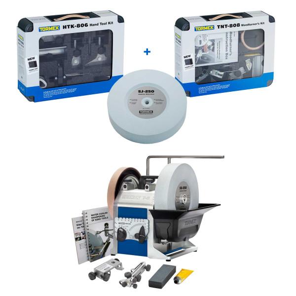 Tormek® T-8 + HTK-806 + TNT-808 + SJ-250 - Nassschleifmaschine