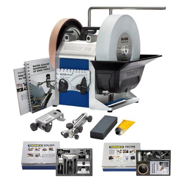 Tormek® T-8 mit HTK-706 & TNT-708 - Nassschleifmaschine + Haus- & Heimpaket + Drechslerpaket